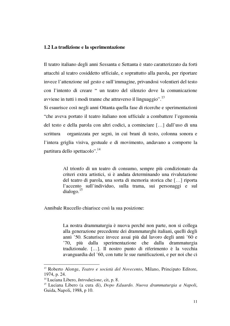Anteprima della tesi: Il teatro di Annibale Ruccello: mass media come nuovi attori, Pagina 7