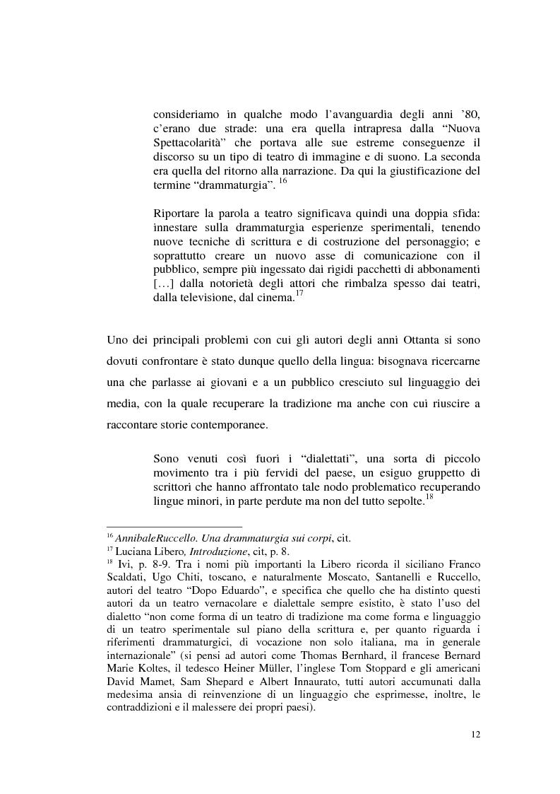 Anteprima della tesi: Il teatro di Annibale Ruccello: mass media come nuovi attori, Pagina 8