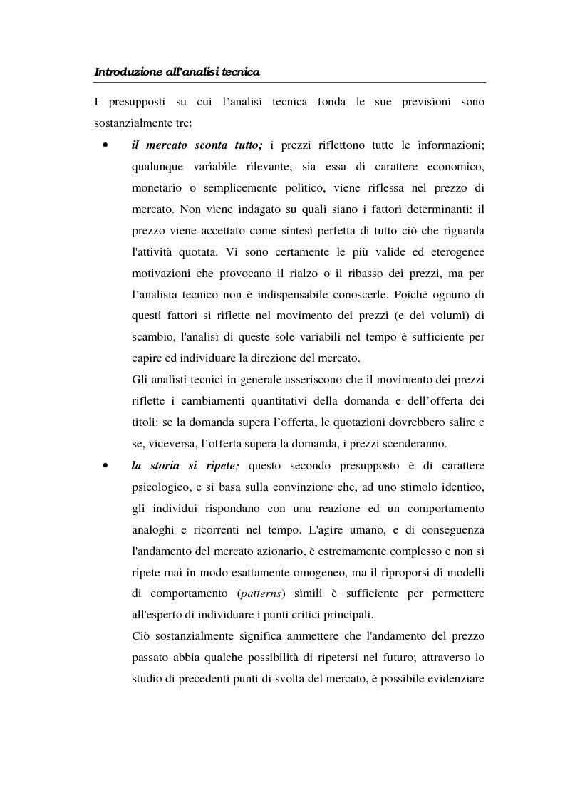 Anteprima della tesi: L'analisi tecnica attraverso il trading system e il decision support system. Uno studio pratico di alcuni titoli azionari, Pagina 12