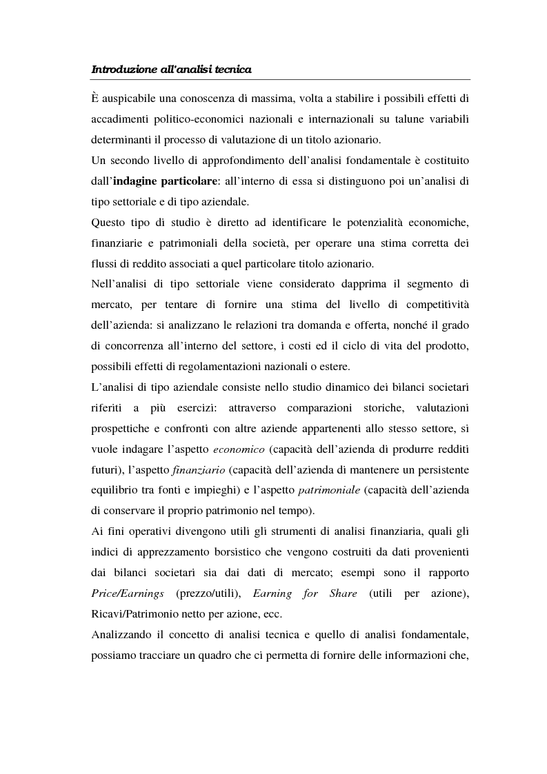 Anteprima della tesi: L'analisi tecnica attraverso il trading system e il decision support system. Uno studio pratico di alcuni titoli azionari, Pagina 14