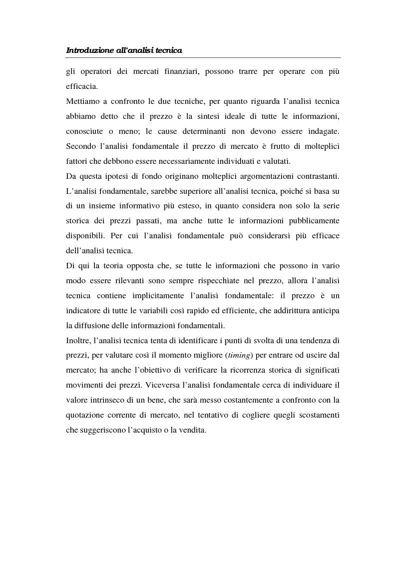 Anteprima della tesi: L'analisi tecnica attraverso il trading system e il decision support system. Uno studio pratico di alcuni titoli azionari, Pagina 15