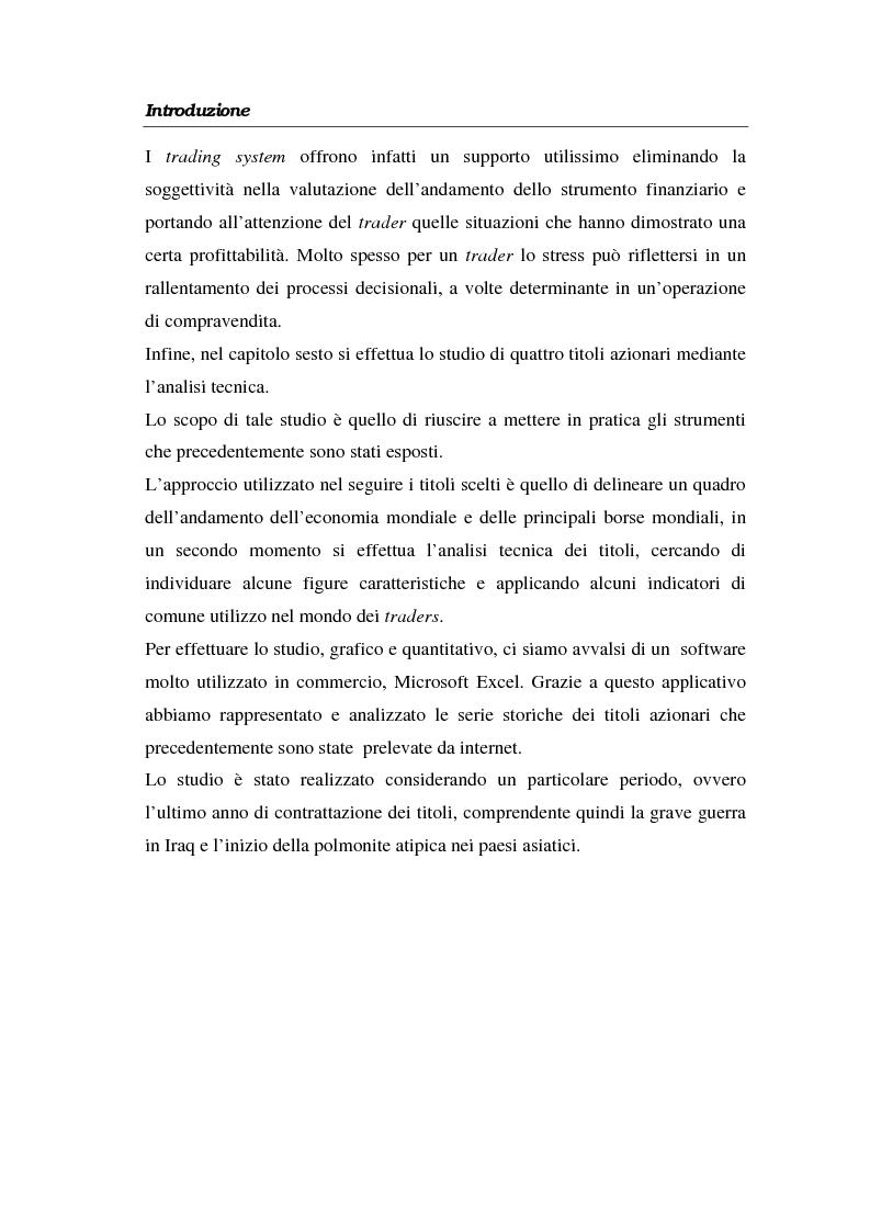 Anteprima della tesi: L'analisi tecnica attraverso il trading system e il decision support system. Uno studio pratico di alcuni titoli azionari, Pagina 5