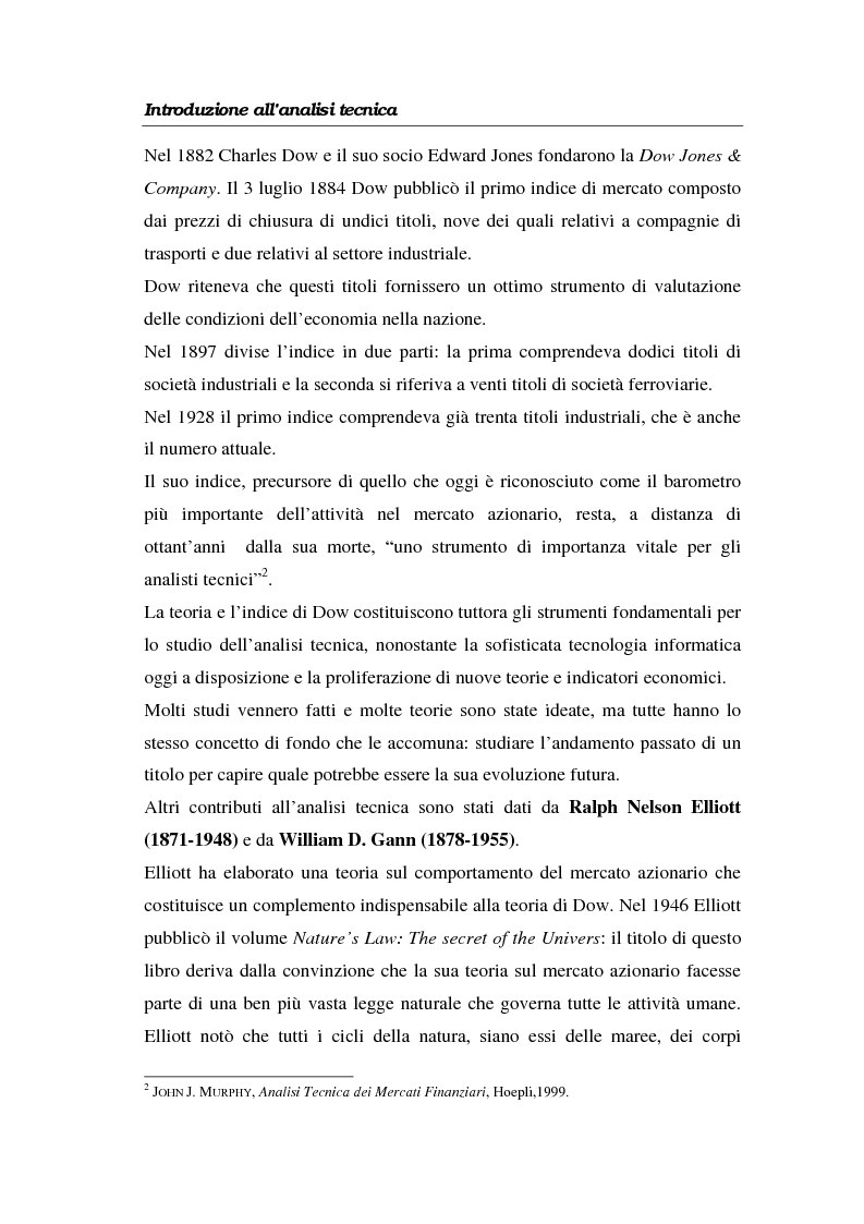 Anteprima della tesi: L'analisi tecnica attraverso il trading system e il decision support system. Uno studio pratico di alcuni titoli azionari, Pagina 8