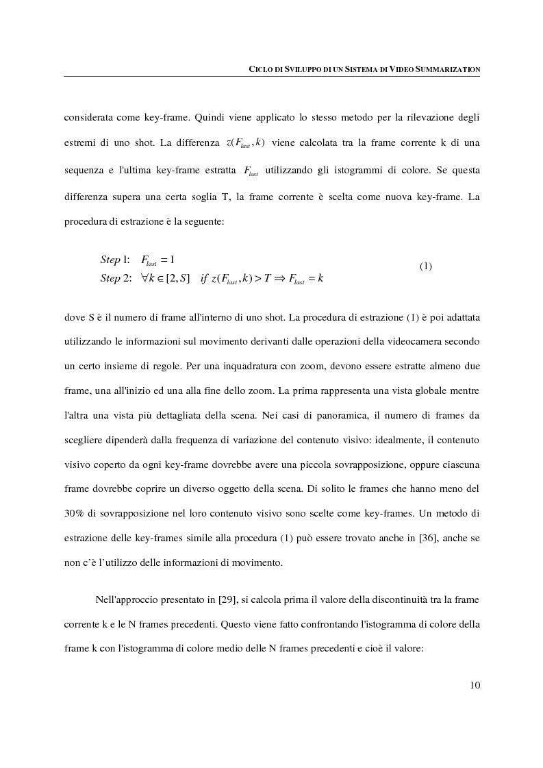 Anteprima della tesi: Progettazione, implementazione e sperimentazione di un ambiente per la video summarization, Pagina 6