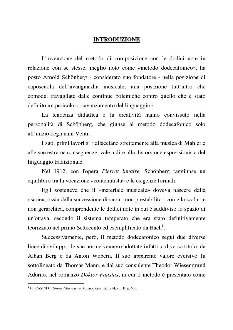 Anteprima della tesi: Percezione e recezione della ''Nuova Musica'' in Italia nel secondo dopoguerra, Pagina 1