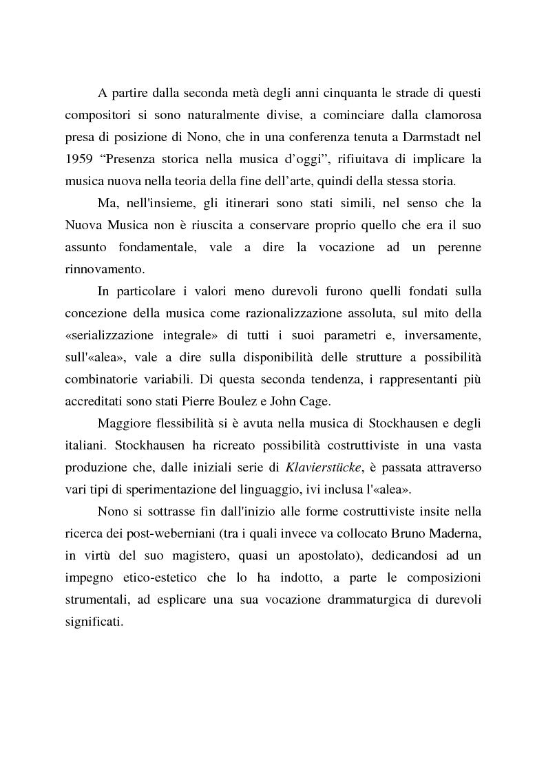 Anteprima della tesi: Percezione e recezione della ''Nuova Musica'' in Italia nel secondo dopoguerra, Pagina 5