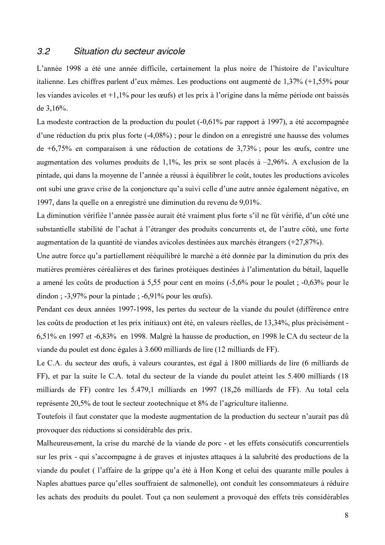 Anteprima della tesi: Analyse Financière des entreprises du secteur avicole en Italie 1997/1998 et positionnement de Sant' Angelo dans le secteur, Pagina 5
