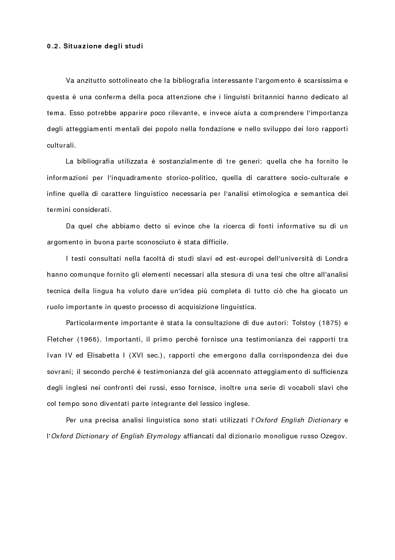 Anteprima della tesi: Terminologia di origine slava nella lingua inglese, Pagina 7