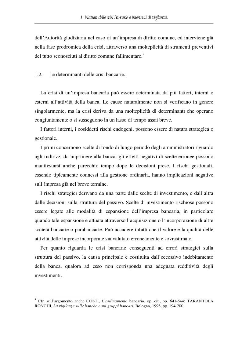 Anteprima della tesi: Crisi dell'impresa bancaria e autonomia della società, Pagina 5