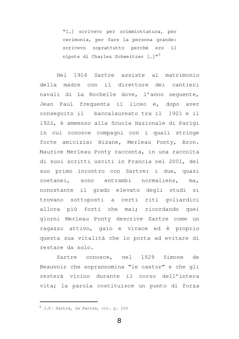 Anteprima della tesi: Esistenzialismo e ateismo in Jean Paul Sartre, Pagina 5