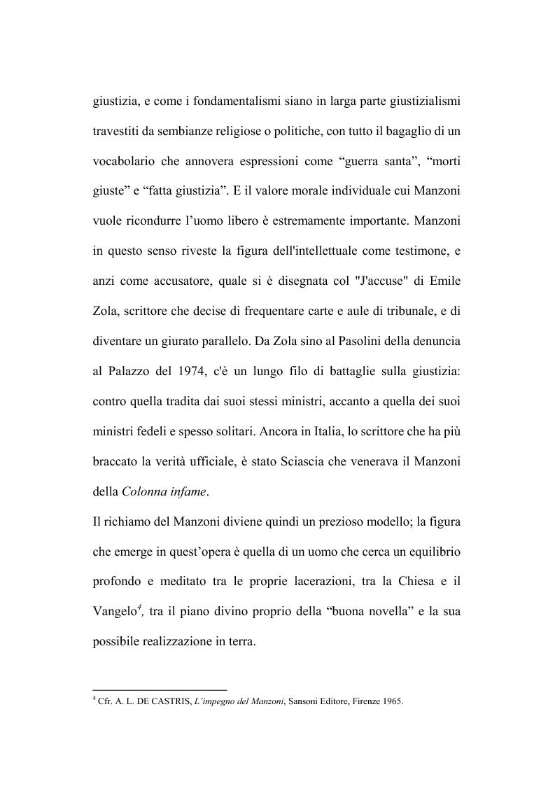 Anteprima della tesi: Genesi e fortuna della ''Storia della colonna infame'' di A. Manzoni, Pagina 7