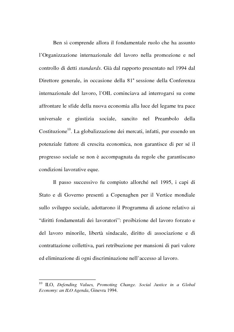 Anteprima della tesi: La globalizzazione dei mercati e il lavoro minorile alla luce della normativa internazionale in materia di diritti dell'uomo, Pagina 6