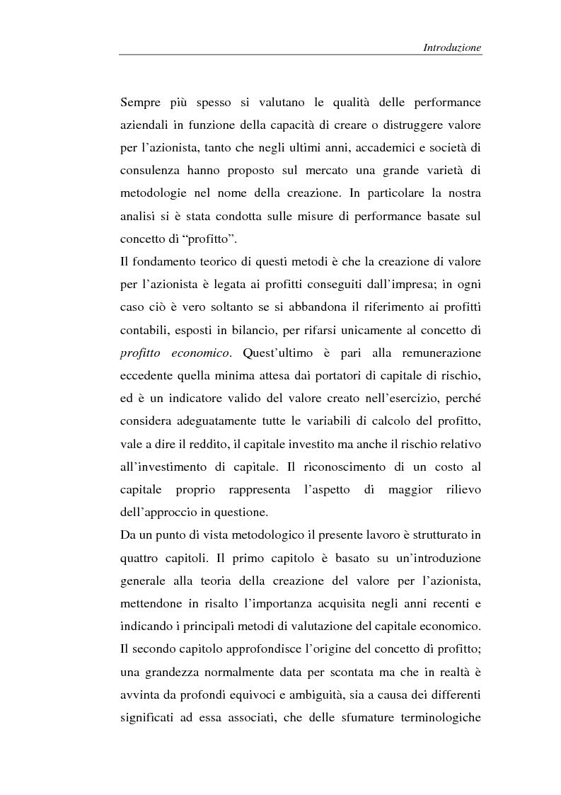 Anteprima della tesi: Creazione di valore e misure di performance basate sul profitto: il caso MBDA Italia spa, Pagina 2