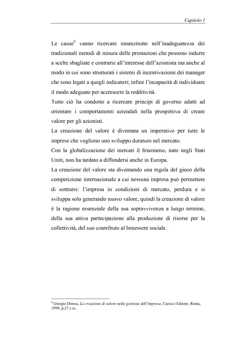 Anteprima della tesi: Creazione di valore e misure di performance basate sul profitto: il caso MBDA Italia spa, Pagina 8
