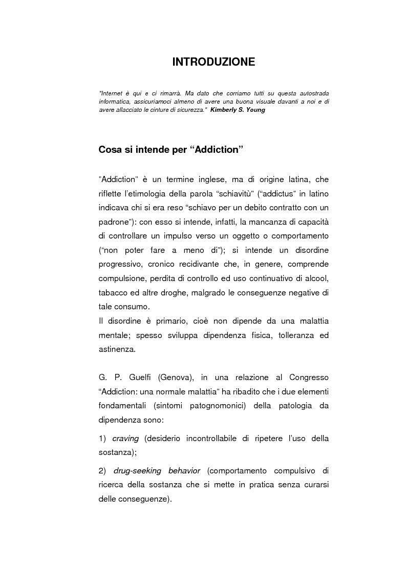 Anteprima della tesi: Psicopatologie delle condotte on-line. Aspetti clinici e psicopatologici correlati all'uso di Internet, Pagina 1