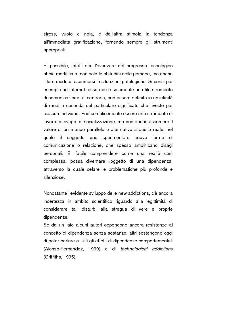 Anteprima della tesi: Psicopatologie delle condotte on-line. Aspetti clinici e psicopatologici correlati all'uso di Internet, Pagina 4