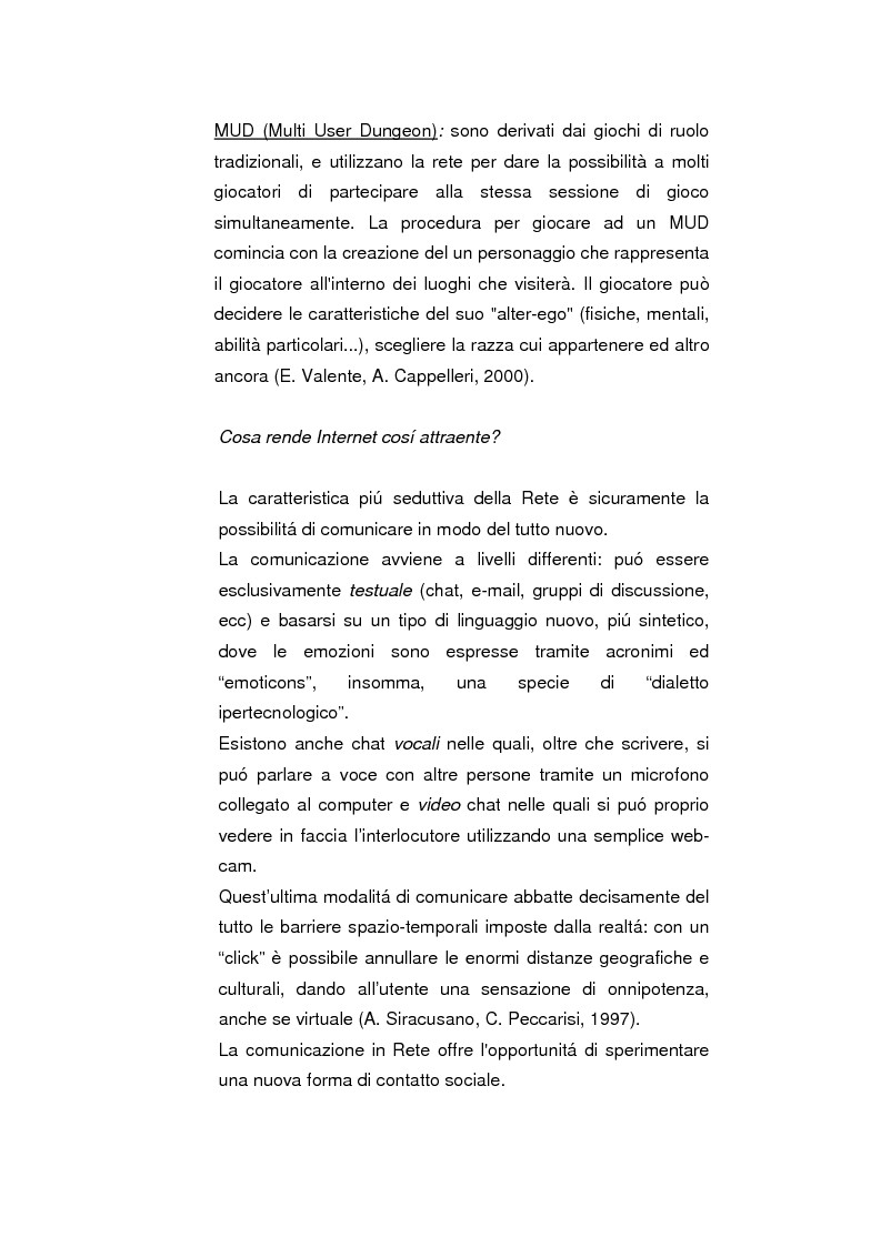 Anteprima della tesi: Psicopatologie delle condotte on-line. Aspetti clinici e psicopatologici correlati all'uso di Internet, Pagina 9