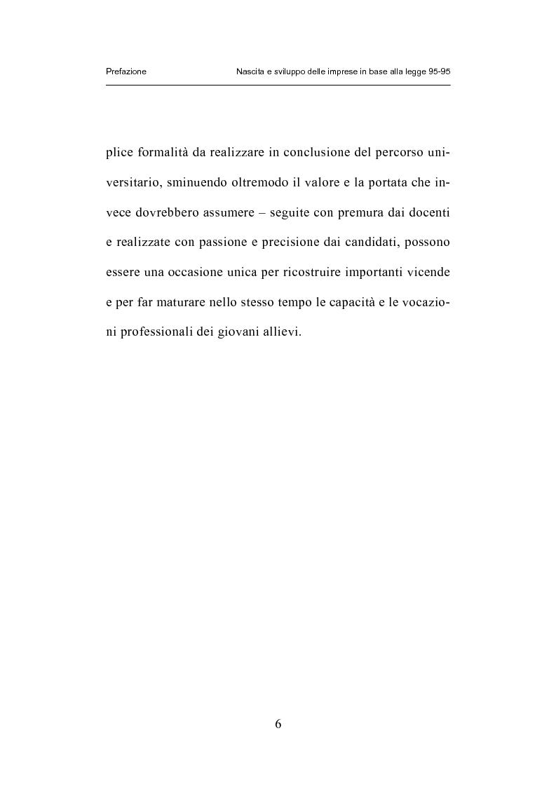Anteprima della tesi: Nascita e sviluppo delle imprese in base alla legge 95-95, Pagina 3
