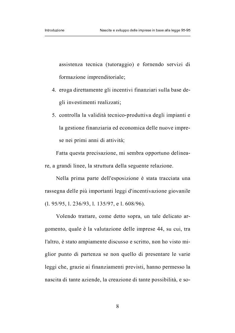 Anteprima della tesi: Nascita e sviluppo delle imprese in base alla legge 95-95, Pagina 5