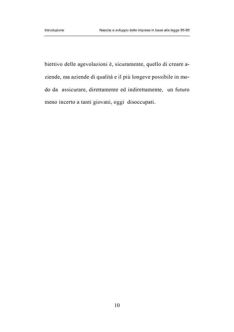 Anteprima della tesi: Nascita e sviluppo delle imprese in base alla legge 95-95, Pagina 7