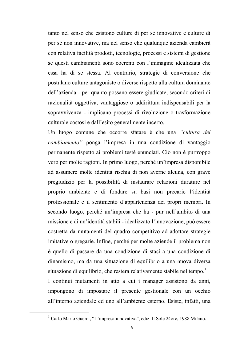 Anteprima della tesi: Innovazione tecnologica: mutamento dei fabbisogni formativi e nuovi profili professionali, Pagina 2