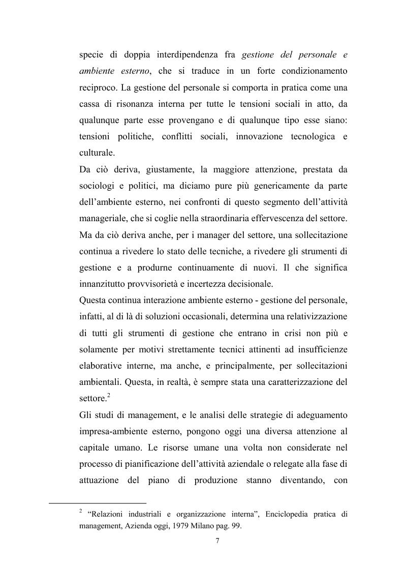 Anteprima della tesi: Innovazione tecnologica: mutamento dei fabbisogni formativi e nuovi profili professionali, Pagina 3