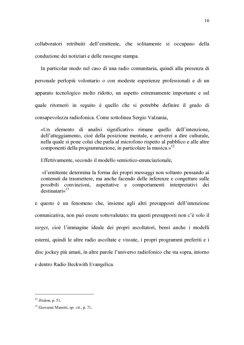Anteprima della tesi: Radio Beckwith: identità in onda. Una ricerca nella radiofonia comunitaria, Pagina 12
