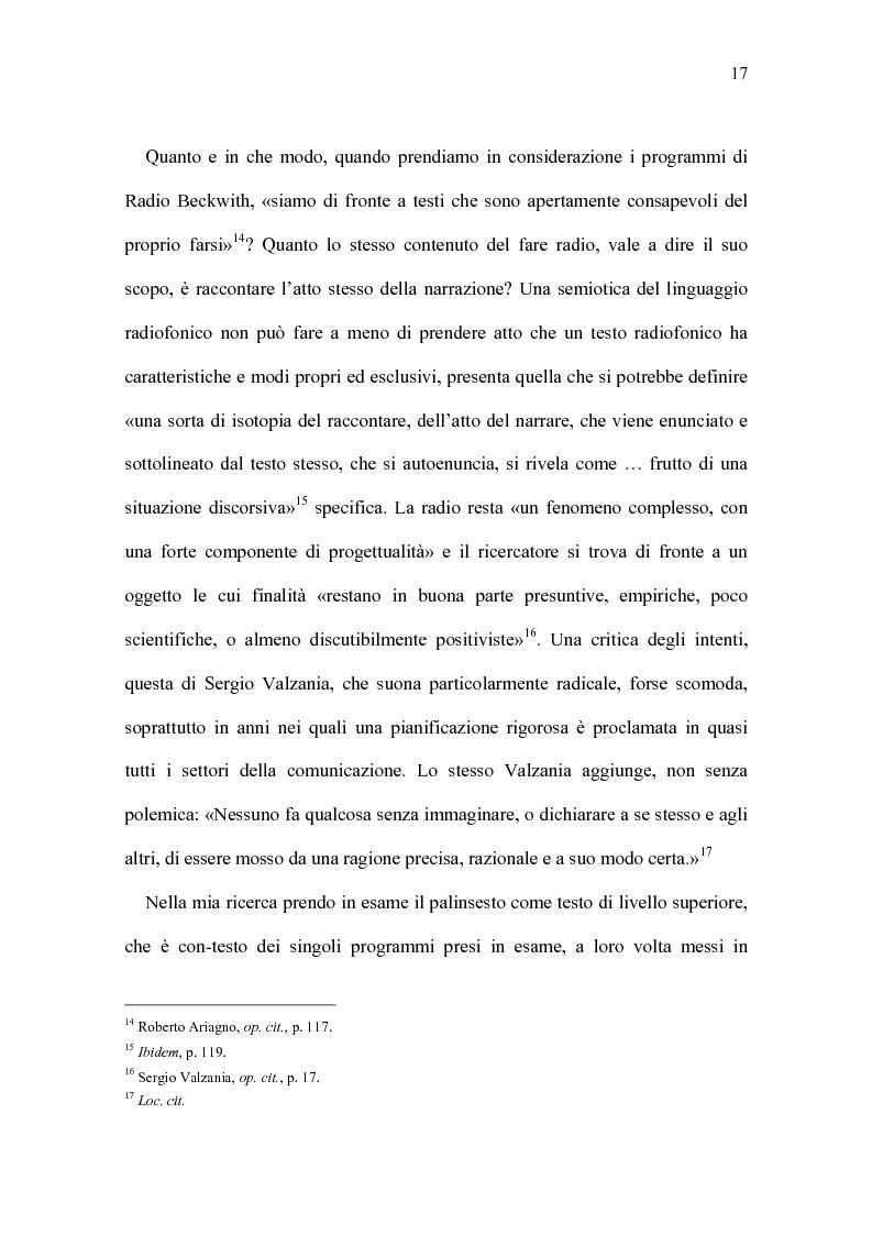 Anteprima della tesi: Radio Beckwith: identità in onda. Una ricerca nella radiofonia comunitaria, Pagina 13