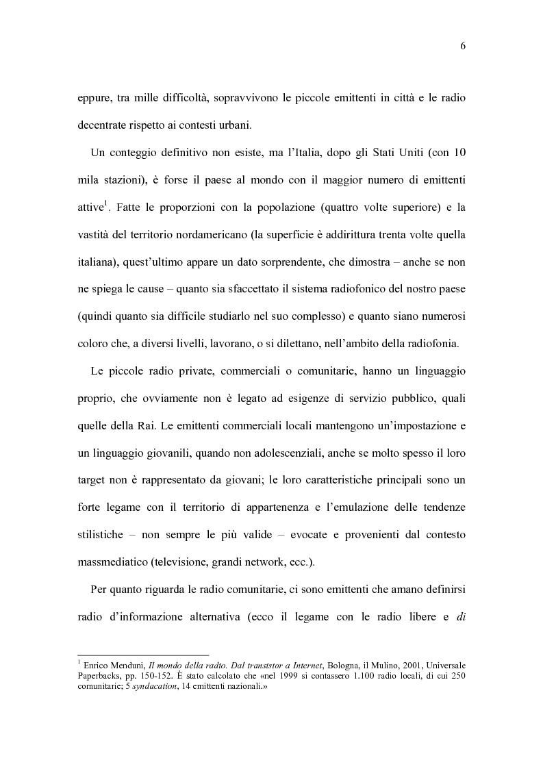 Anteprima della tesi: Radio Beckwith: identità in onda. Una ricerca nella radiofonia comunitaria, Pagina 2