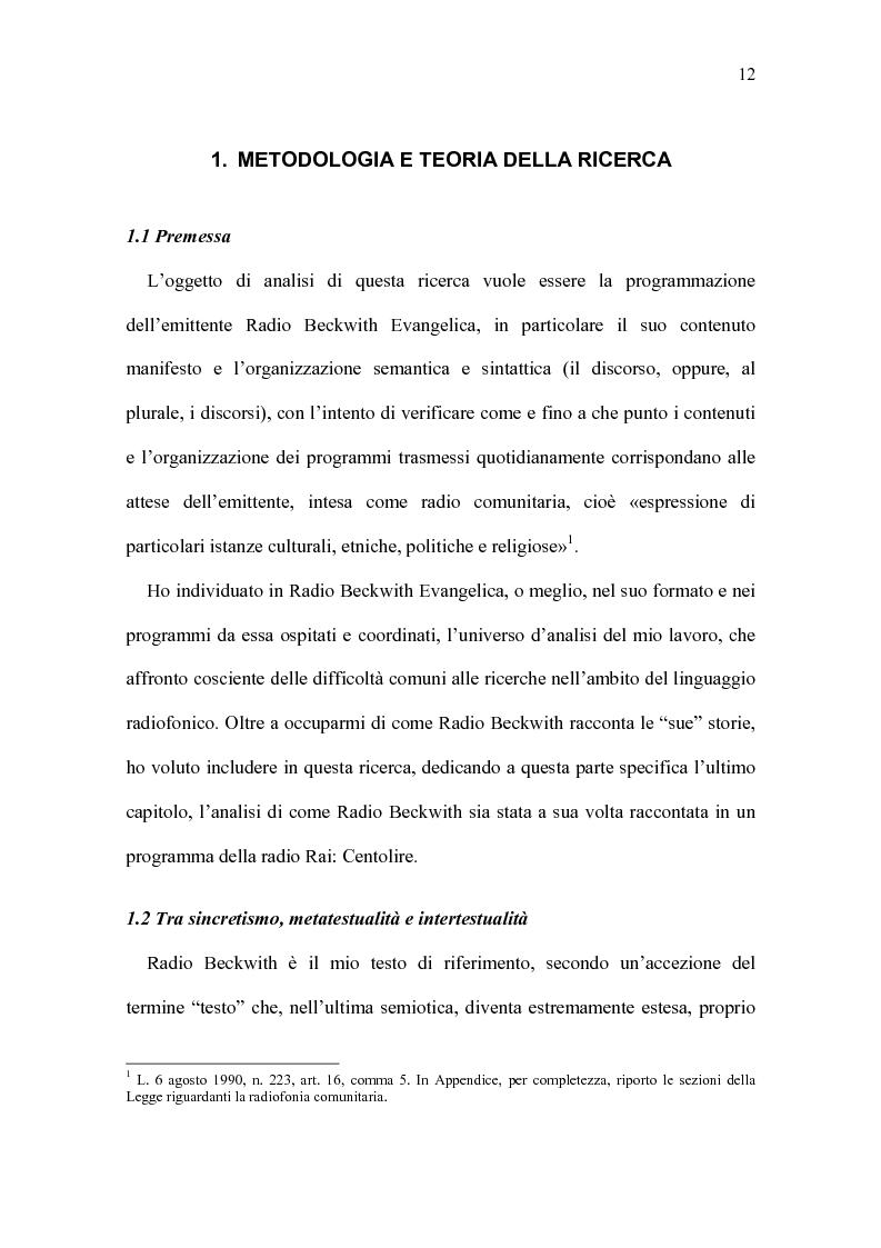 Anteprima della tesi: Radio Beckwith: identità in onda. Una ricerca nella radiofonia comunitaria, Pagina 8