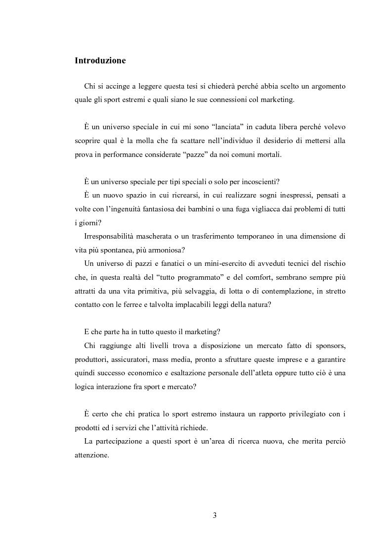 Anteprima della tesi: Gli sport estremi. Analisi teorica ed empirica del comportamento del consumatore, Pagina 1