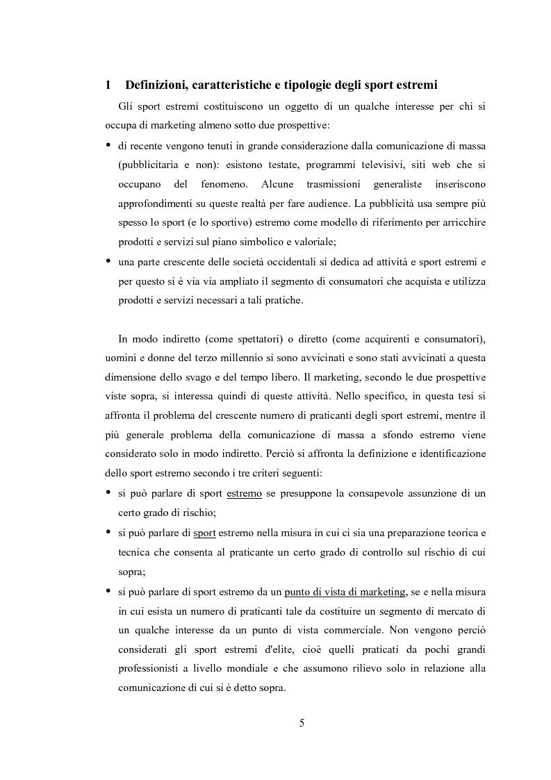 Anteprima della tesi: Gli sport estremi. Analisi teorica ed empirica del comportamento del consumatore, Pagina 3