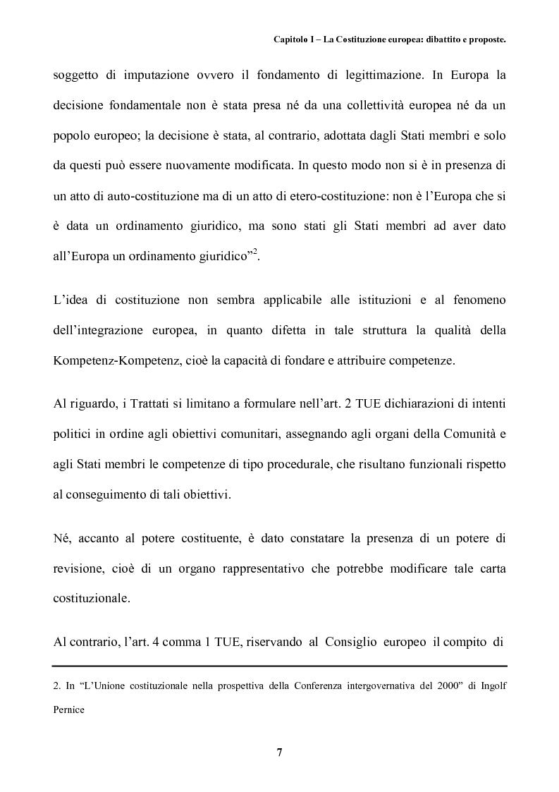 Anteprima della tesi: Il futuro dell'Europa: dalla riforma della governance alla Costituzione europea, Pagina 11