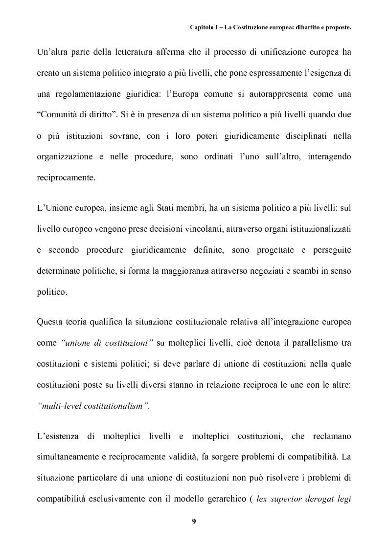 Anteprima della tesi: Il futuro dell'Europa: dalla riforma della governance alla Costituzione europea, Pagina 13