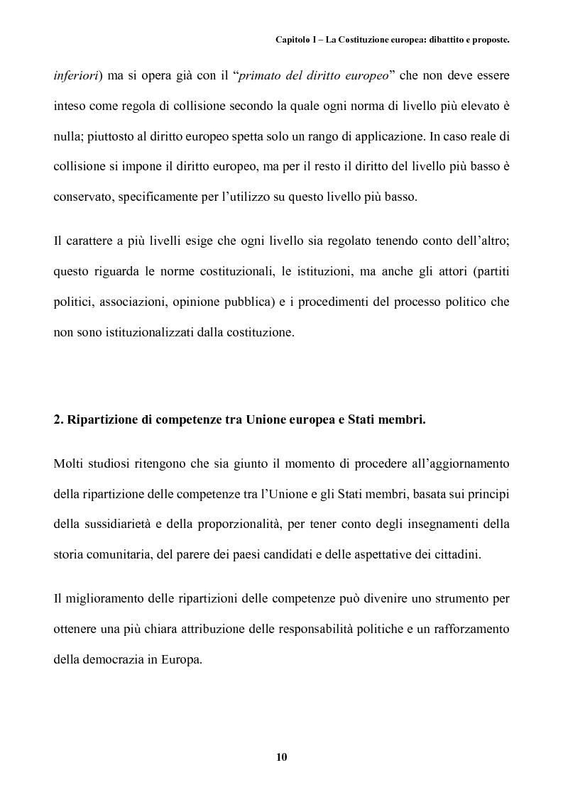 Anteprima della tesi: Il futuro dell'Europa: dalla riforma della governance alla Costituzione europea, Pagina 14
