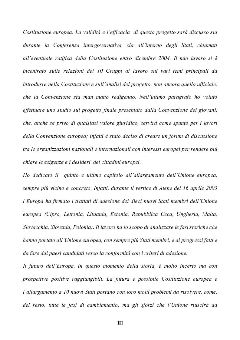 Anteprima della tesi: Il futuro dell'Europa: dalla riforma della governance alla Costituzione europea, Pagina 3