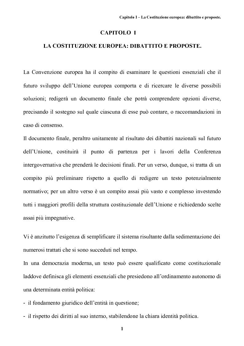 Anteprima della tesi: Il futuro dell'Europa: dalla riforma della governance alla Costituzione europea, Pagina 5