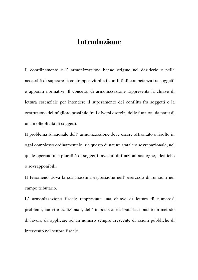 Anteprima della tesi: L'armonizzazione fiscale europea, Pagina 1