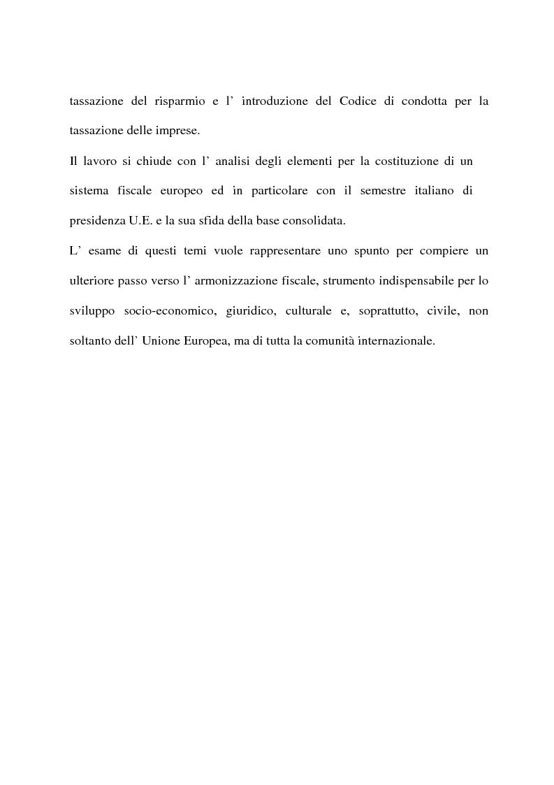Anteprima della tesi: L'armonizzazione fiscale europea, Pagina 6