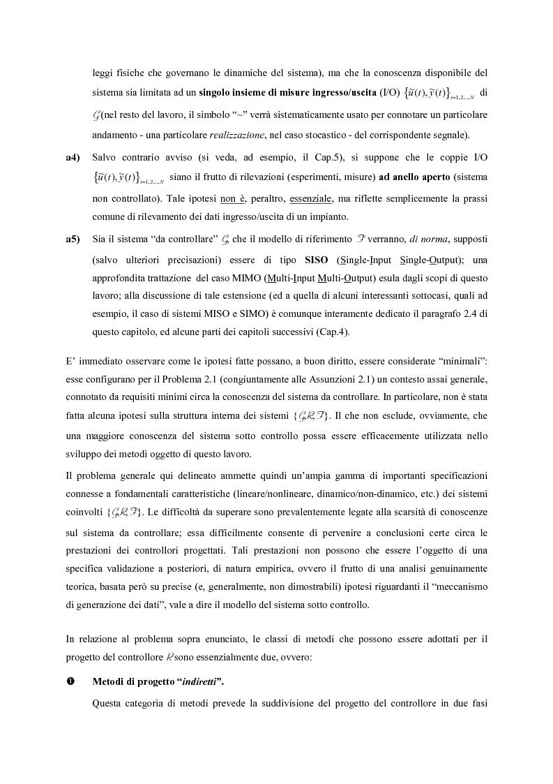 Anteprima della tesi: Identificazione e controllo non-lineare mediante tecniche di tipo parametrico, Pagina 10