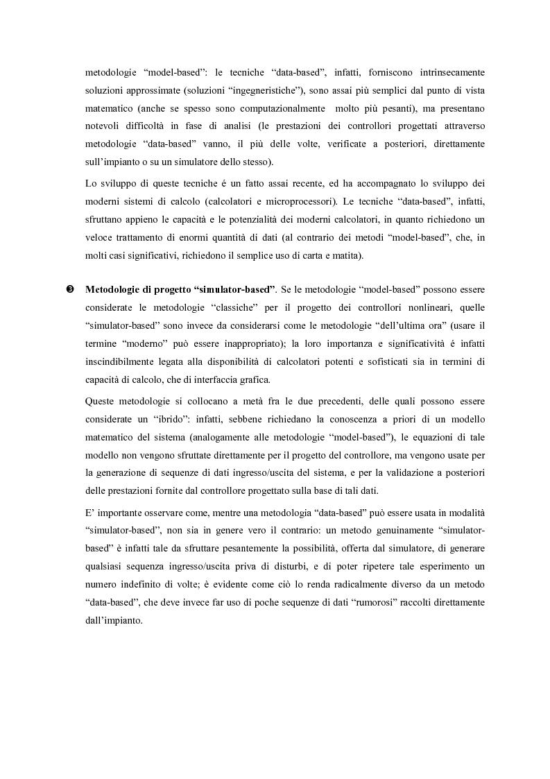 Anteprima della tesi: Identificazione e controllo non-lineare mediante tecniche di tipo parametrico, Pagina 3