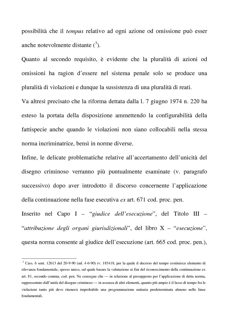 Anteprima della tesi: Il riconoscimento del reato continuato nella fase esecutiva, Pagina 3