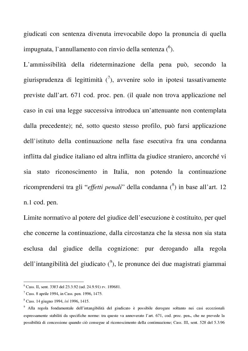 Anteprima della tesi: Il riconoscimento del reato continuato nella fase esecutiva, Pagina 7