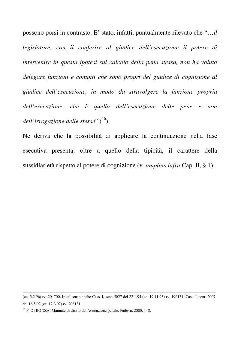 Anteprima della tesi: Il riconoscimento del reato continuato nella fase esecutiva, Pagina 8