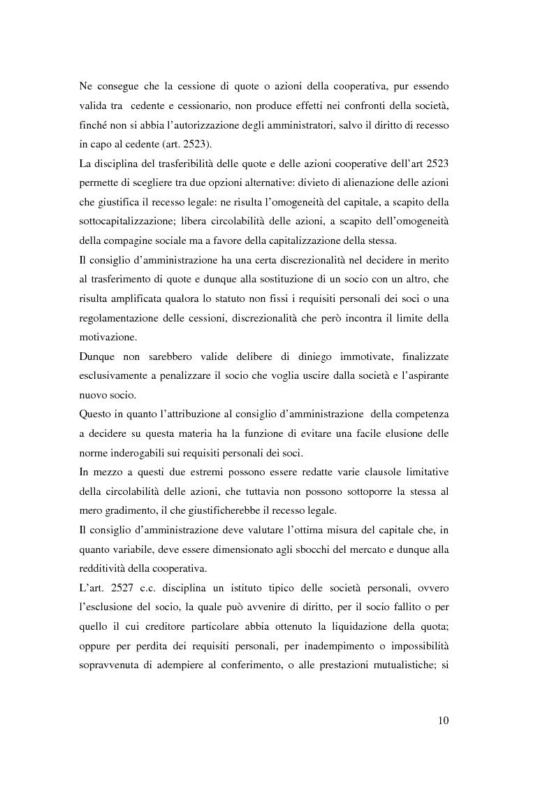 Anteprima della tesi: I ristorni nelle società cooperative: aspetti giuridici e economici, Pagina 10