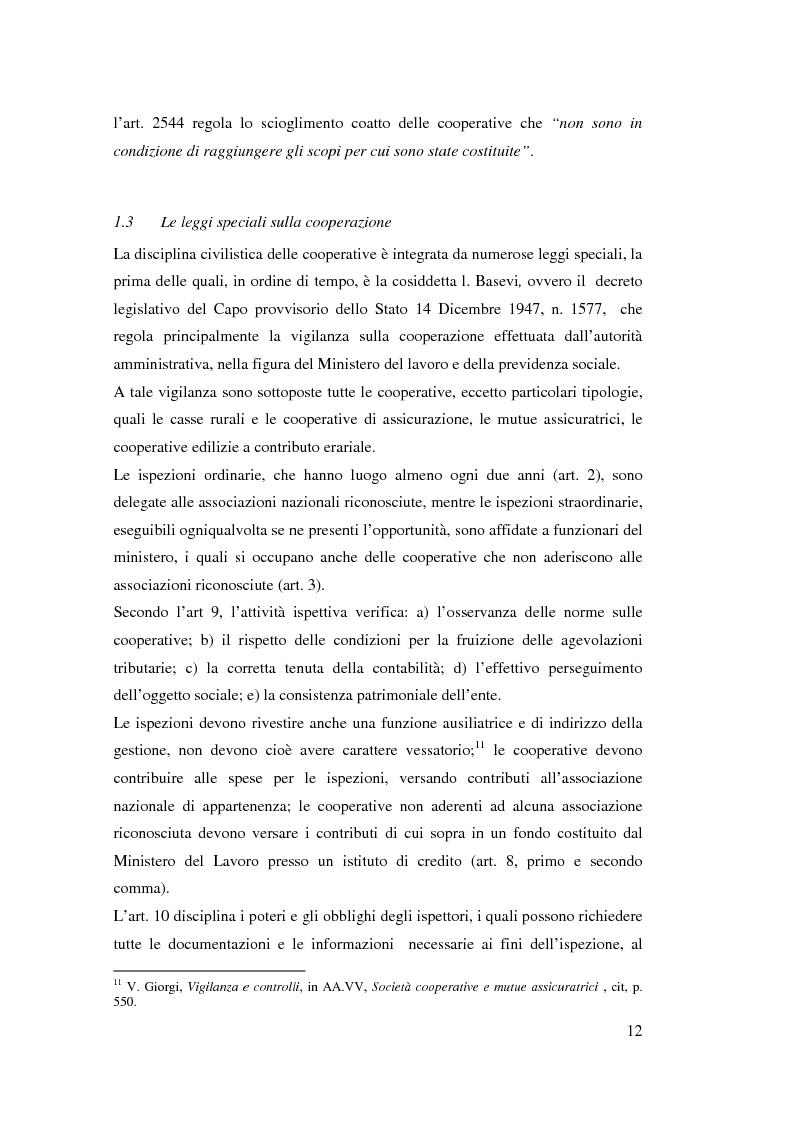 Anteprima della tesi: I ristorni nelle società cooperative: aspetti giuridici e economici, Pagina 12