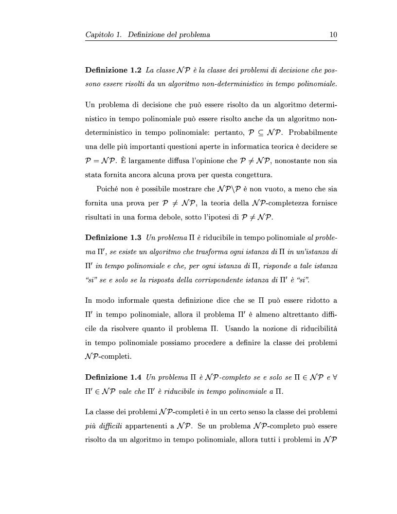 Anteprima della tesi: Metaeuristiche per la costruzione degli orari dei corsi universitari, Pagina 10