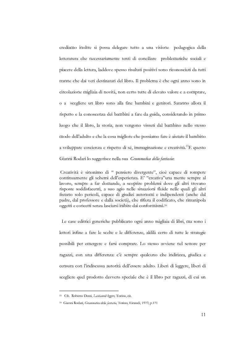 Anteprima della tesi: Il libro per l'infanzia. Editori, lettori, esperienze siciliane, Pagina 9
