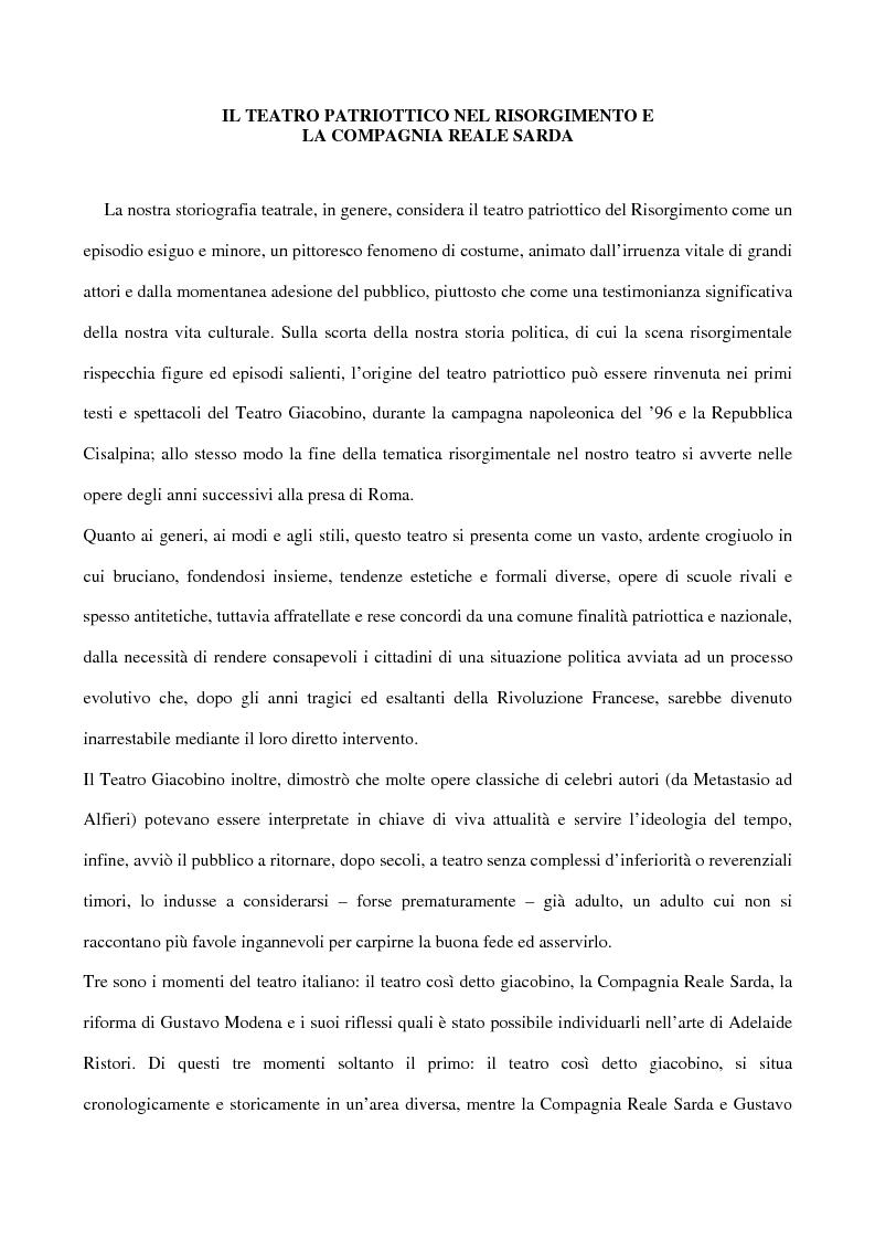 Anteprima della tesi: Maria Antonietta di Paolo Giacometti. Storia di una drammaturgia, Pagina 1