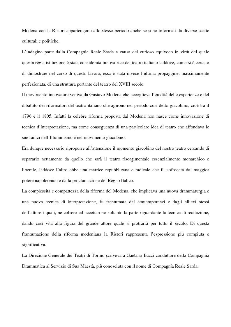Anteprima della tesi: Maria Antonietta di Paolo Giacometti. Storia di una drammaturgia, Pagina 2